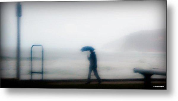 Walking In The Rain Metal Print by Christoph Mueller