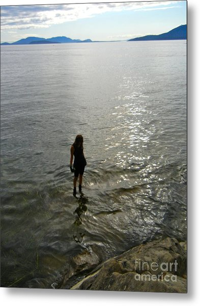 Walking On The Tide Metal Print