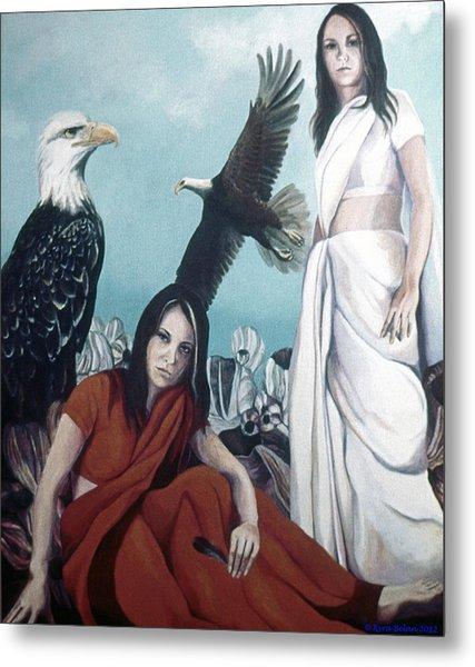 Walks With Eagles Metal Print