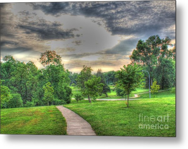Walkway In A Park Metal Print