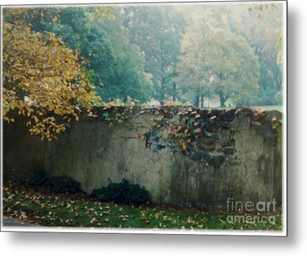 Wall In Fall Metal Print by Maxine Bochnia