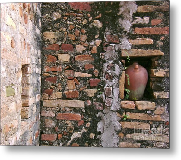 Wall With Vessel Metal Print by Laurel Fredericks