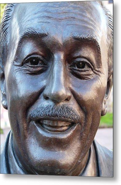 Walt Disney Bust Metal Print