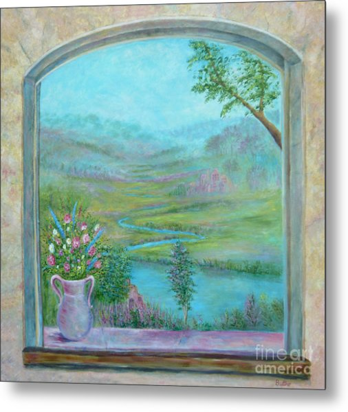 Metal Print featuring the painting Walton's Valley by Lynn Buettner