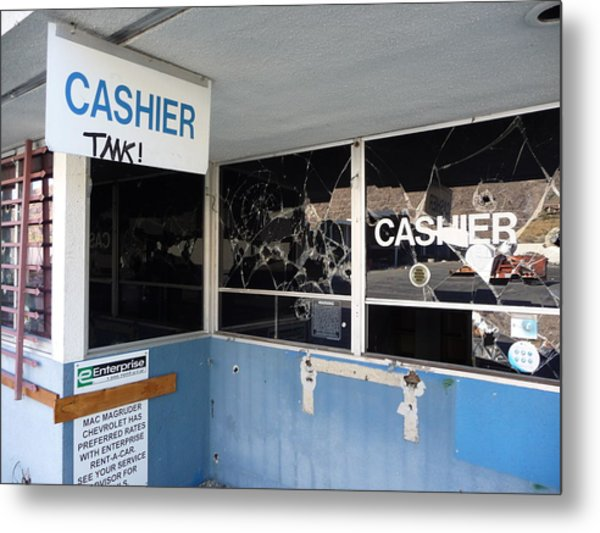 Wanted Cashier  Metal Print by Paul Washington
