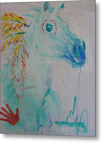 War Poney Metal Print