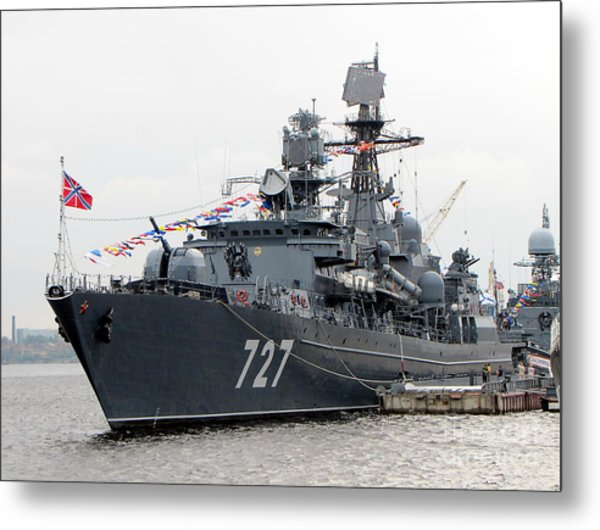 War Ship Metal Print by Yury Bashkin
