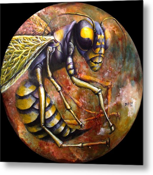 Wasp Metal Print by Rust Dill