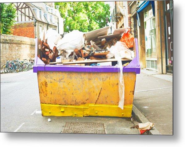 Waste Skip Metal Print
