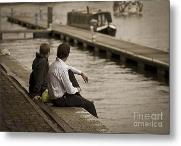 Watching The World Go By Metal Print