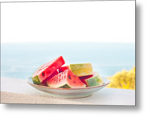 Water Melon Metal Print