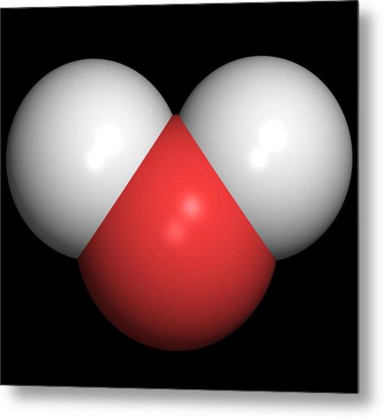 Water Molecule Metal Print by Friedrich Saurer