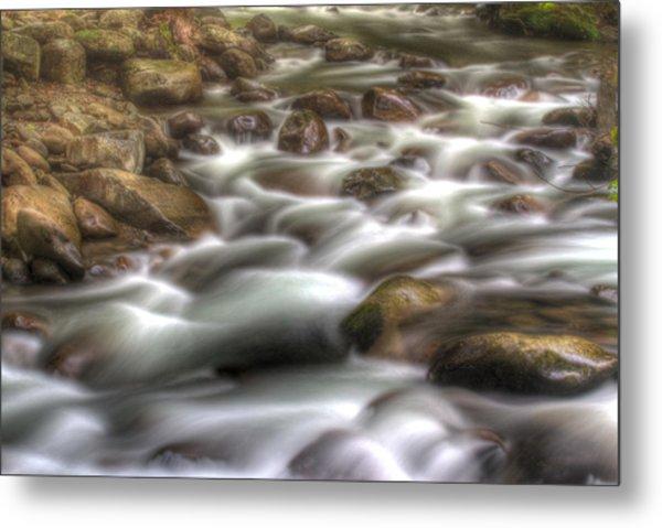 Water On The Rocks Metal Print by Barry Jones