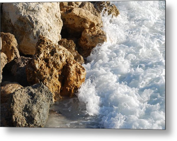Water On The Rocks Metal Print by Carrie Munoz