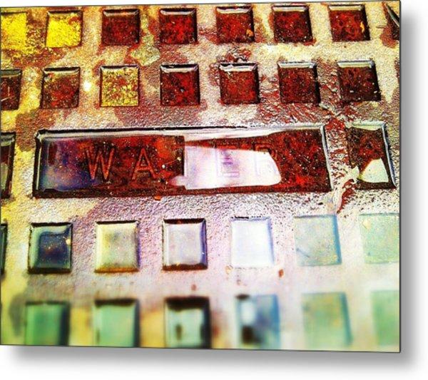 Water On Water Metal Print