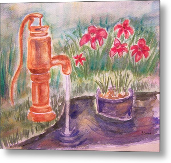 Water Pump Metal Print