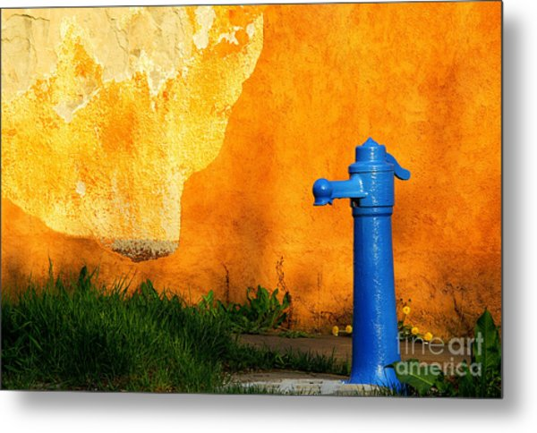 Water Well Metal Print by Odon Czintos