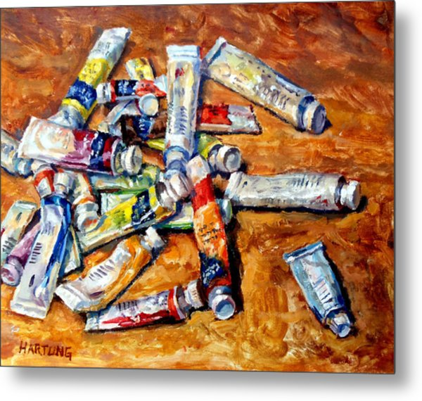 Watercolor Tubes Metal Print by Mark Hartung