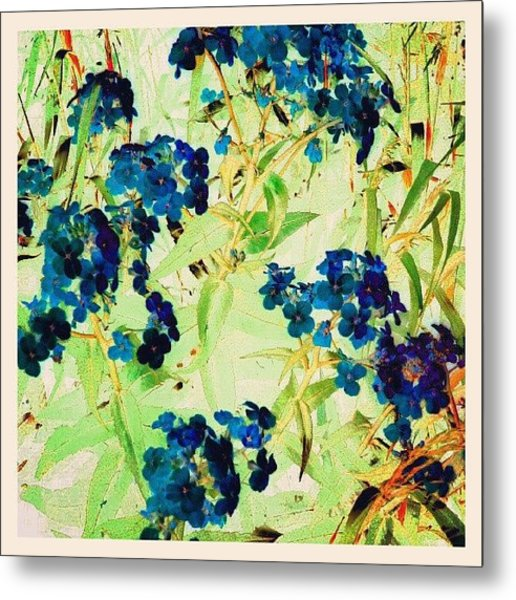 Watercolor Violets #android Metal Print