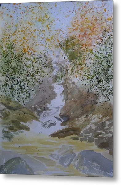 Waterfall Abstract Metal Print