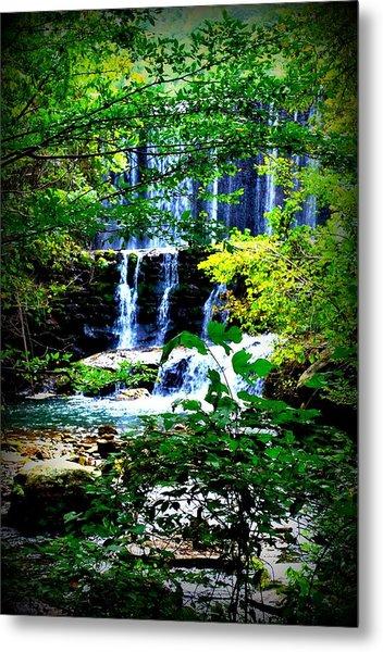 Waterfall Metal Print by Charles Covington