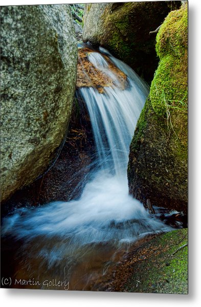 Waterfall Metal Print by Martin  Gollery