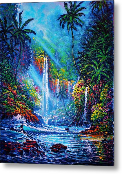 Waterfall  River Of Life Metal Print