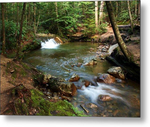 Waterfalls At The Basin Metal Print by David Gilman