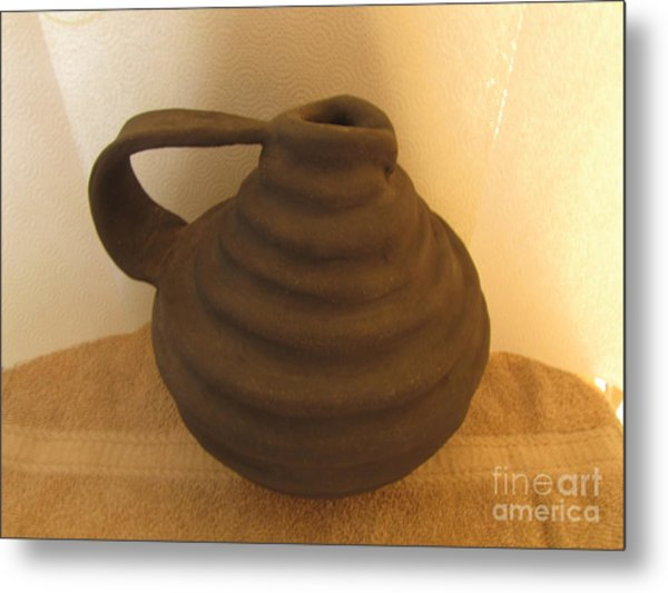 Watering Vase Metal Print by Christina Perry