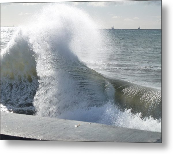 Wave And Wind Metal Print