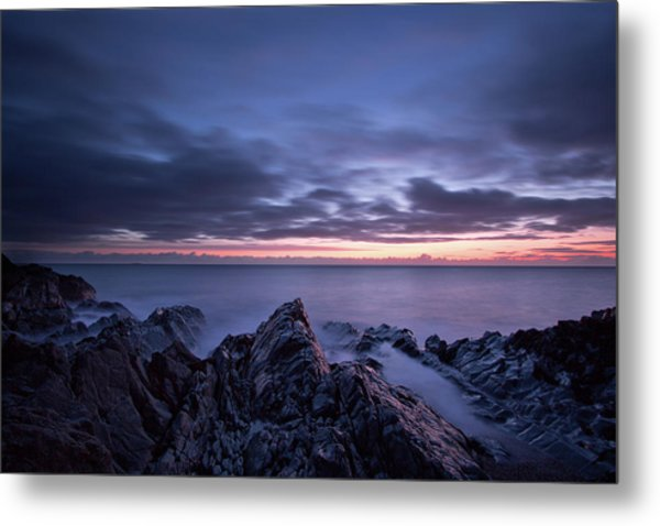 Wave Whispers At Dawn Metal Print
