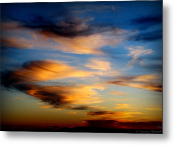 Wavy Sunset Clouds Metal Print by Aaron Burrows