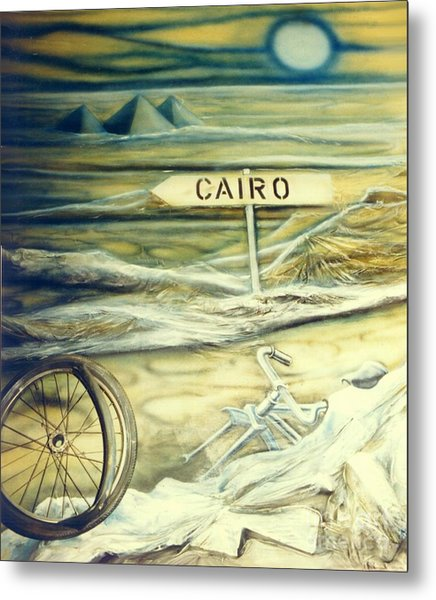 Way To Cairo Metal Print