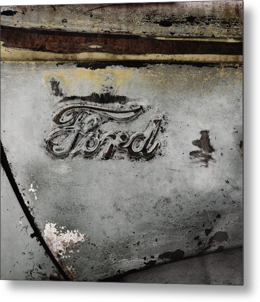 Weathered But Still Cool Two Metal Print