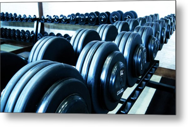 Weights Horizontal Metal Print