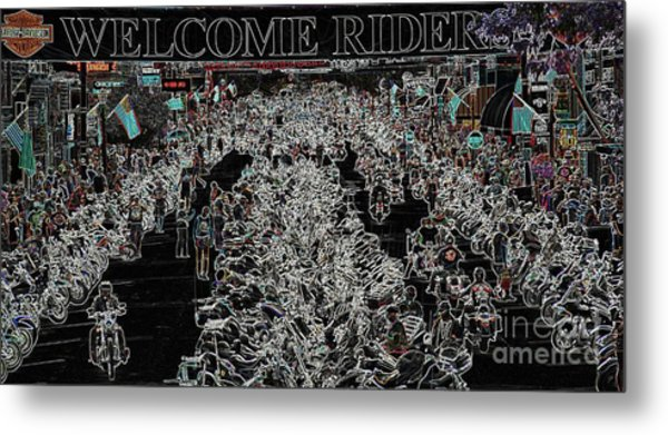 Welcome Riders Metal Print