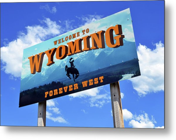 Welcome To The West Metal Print