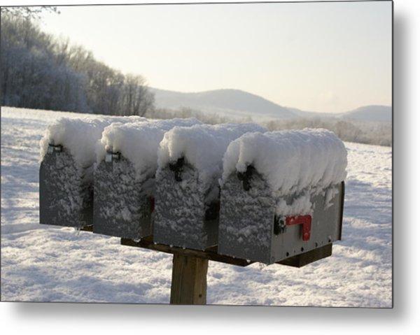Welcomed Mail Metal Print by Margaret Steinmeyer