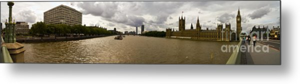 Wesminster Pano Metal Print by Keith Sutton