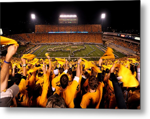 West Virginia Milan Puskar Stadium Metal Print by Lance King