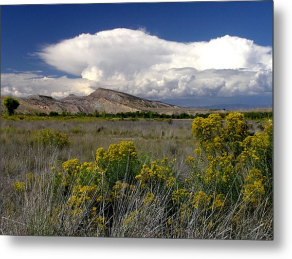 Western Colorado Cloudscape Metal Print