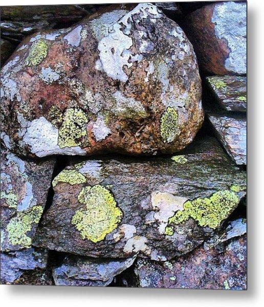 Wet Dry Stone Wall Metal Print