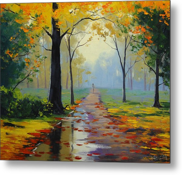 Wet Road Metal Print