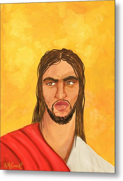''what Would Jesus Do'' Metal Print by Mccormick  Arts