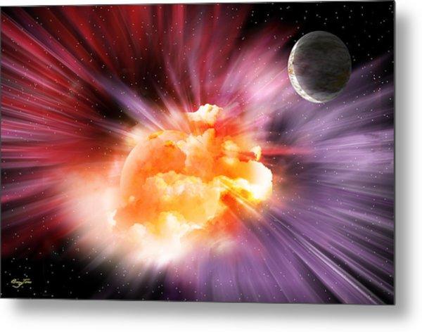 When Black-holes Collide Metal Print by Barry Jones