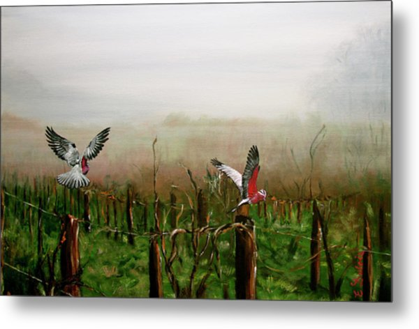 Where Are The Grapes Metal Print