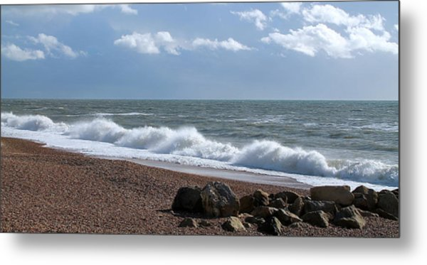 White Horses Metal Print by Karen Grist