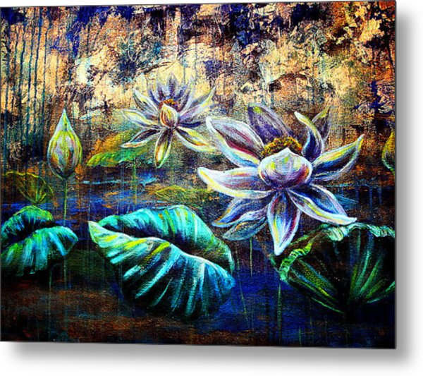 White Lotus Metal Print