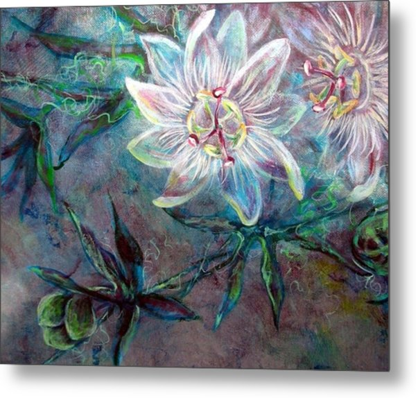 White Passion Metal Print