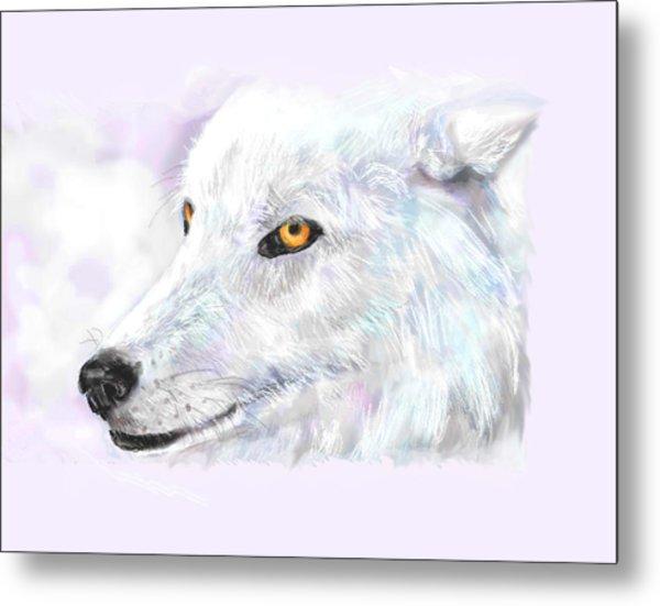 White Wolf Metal Print by Lakota Phillips
